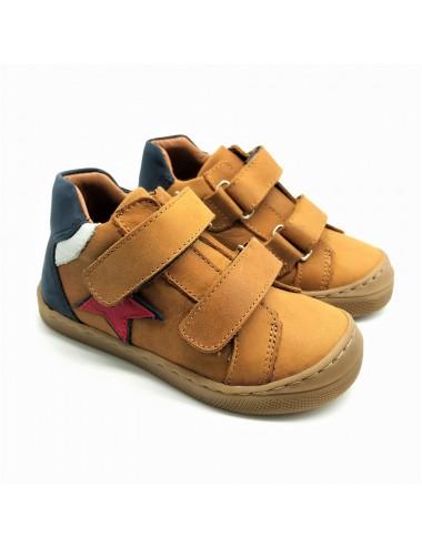 Chaussure à scratch camel...