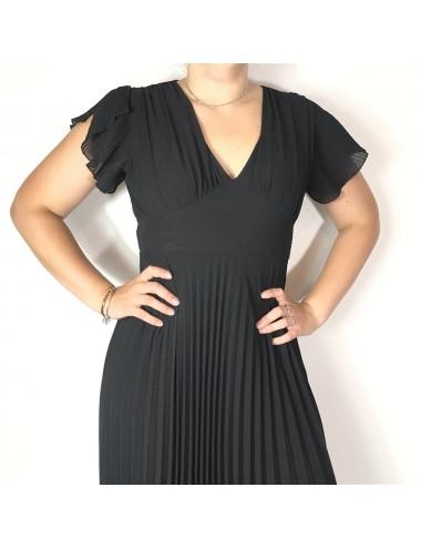 Robe longue noir uni