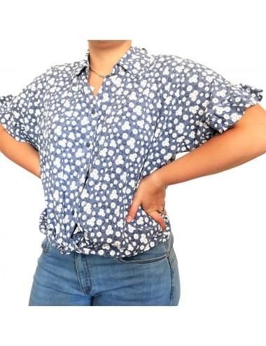 Chemise à fleurs marguerite