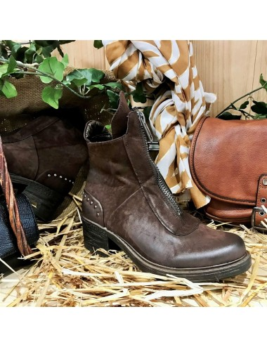 Boots Zip Effet Brossé