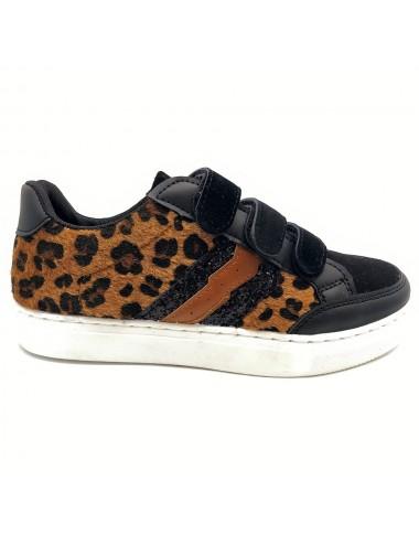 Sneakers léopard à scratch