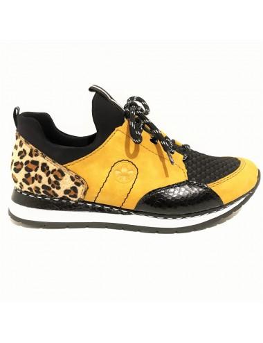 Basket jaune noir léopard...
