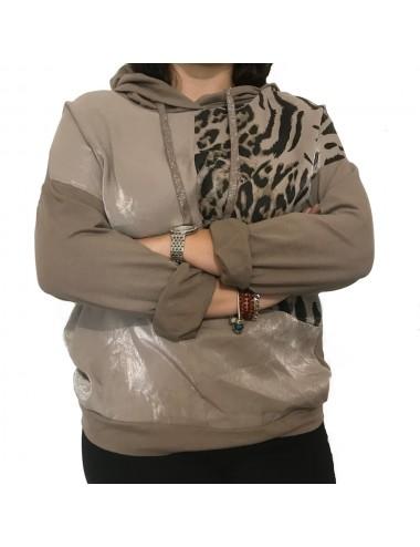 Sweat Capuche Leopard