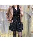 Robe noir léopard hiver
