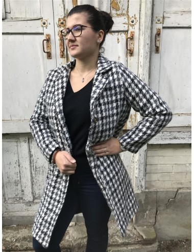 Manteau lainage effet pied...