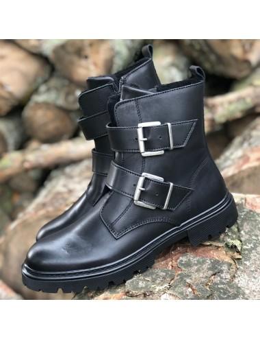 Boots noir à boucles...