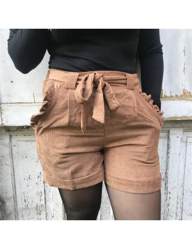 Short habillé effet velours