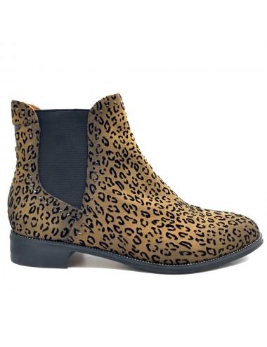 Bottine plate léopard Mamzelle