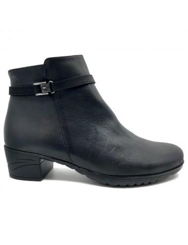 Bottine confort noir Fluchos