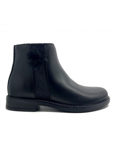 Bottine noir en cuir Bellamy Lisa