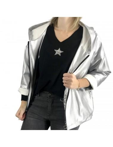 veste courte simili avec étoile