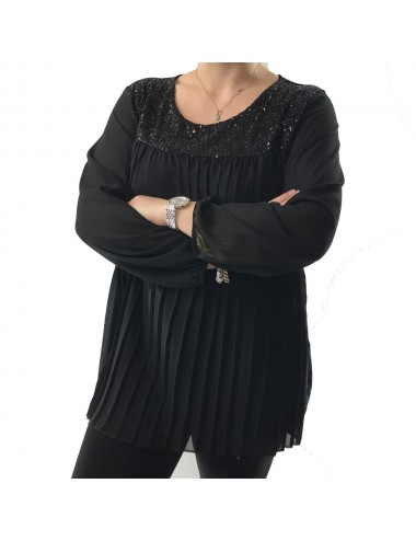 Top chic noir grande taille