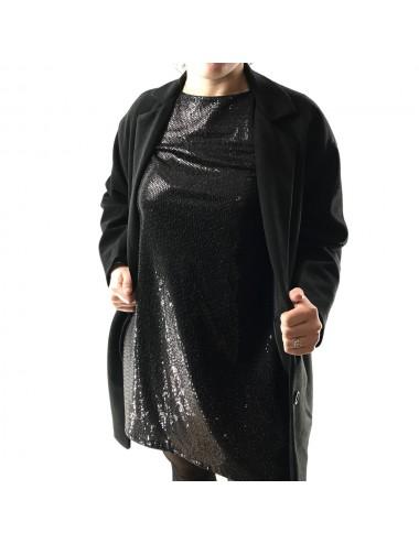 Robe chic à strass noir