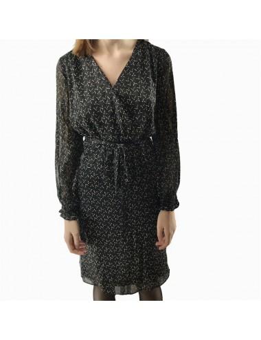Robe noir à manche longue