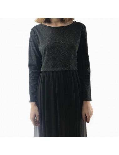 Robe noir en tulle