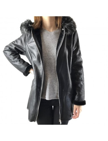 Manteau effet suédine en grande taille