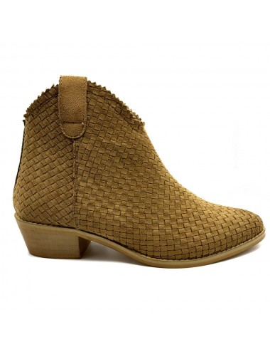 Boots camel effet tiag tréssé