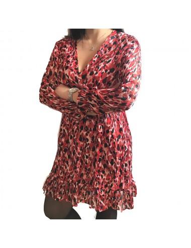 Robe imprimée Rose