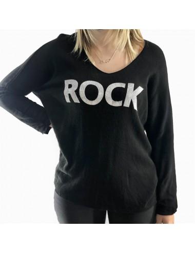 Pull noir Rock