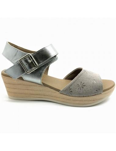 Nu-pied compensé gris Dorking Babor D7425