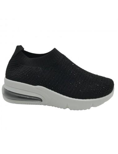 Basket chaussette noir à...