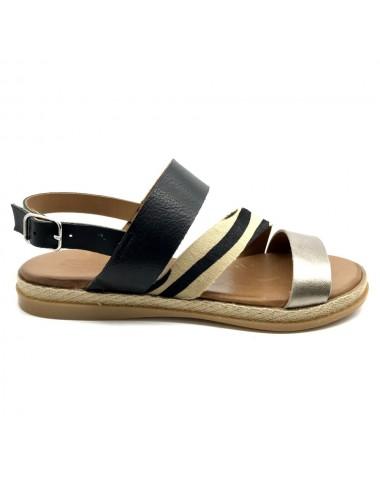 Sandale noir zebré Pedro...