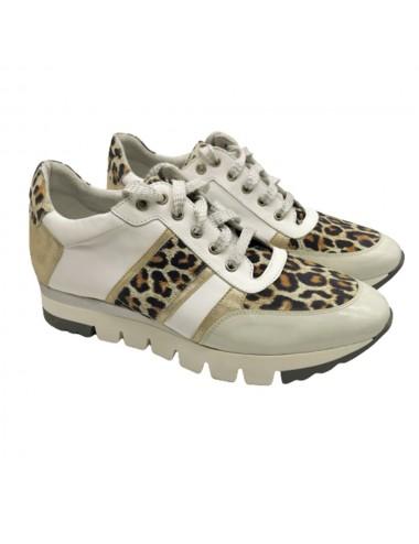 Basket blanche léopard...