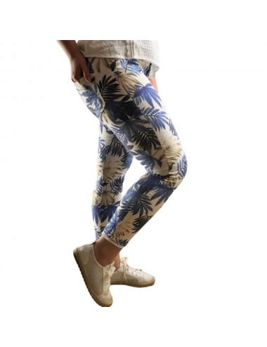 Pantalon slim imprimé