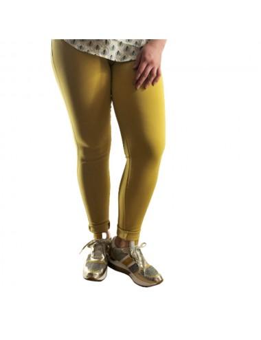 Pantalon Jaune slim taille...