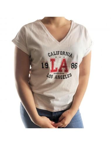 Tee-Shirt blanc Los Angeles