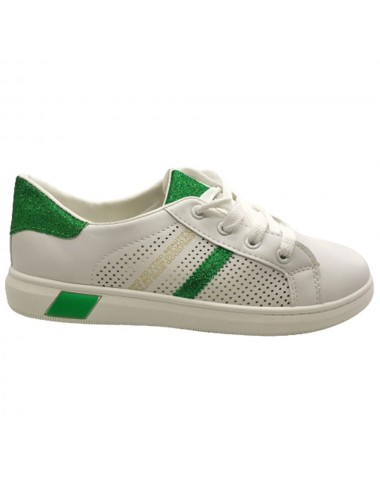 Basket basse blanche et verte