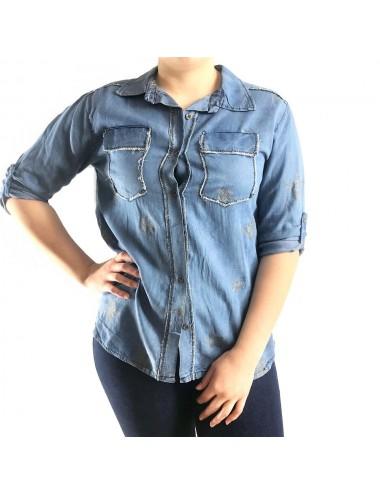 Chemise en jean avec étoile...