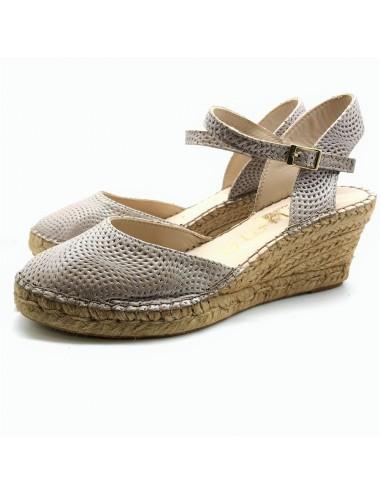 Chaussure compensée beige...