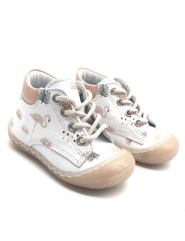 Chaussure bébé Flamant rose...