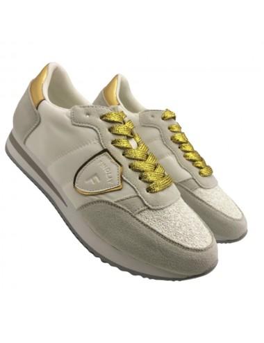 Sneakers blanche et doré