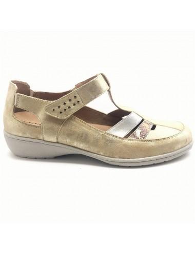 Chaussure semi-ouverte doré...