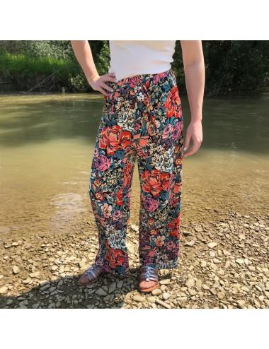Pantalon fluide Fleuri