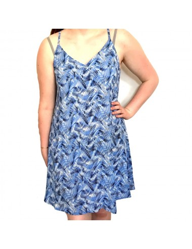 Robe bleu à bretelles