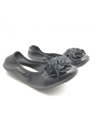 Ballerine noir avec fleurs
